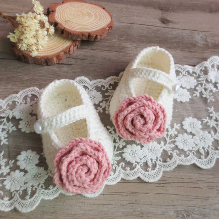 QYFLYXUEQYFLYXUE-  Handmade Crochet Cotton Baby Shoes Handmade By Hand. Multicolor Can Be Customized