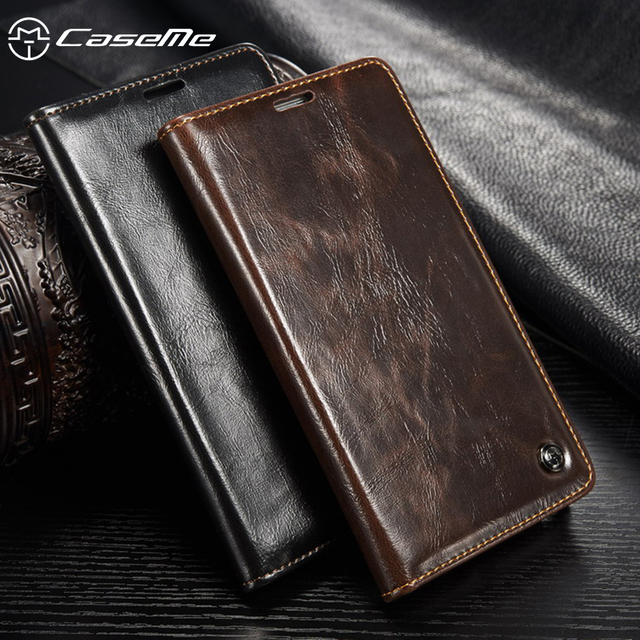 CaseMe PU Leather Phone Flip Covers Cases For Samsung Galaxy S5 SV G900F G900I G900M G900A G900T G900W8 Case Cover Card Holster