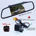 """Trazer 4 IR hd universal retrovisor do carro da câmera + colocação sunvisor lcd display monitor de espelho de carro 4.3 """"para todos os carros à prova de água-"""