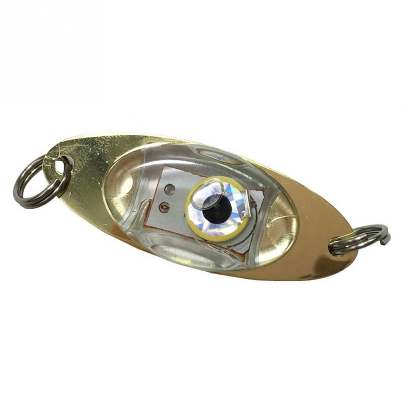 LED Muti Colors Flash Deep Drop Underwater Eye Shape Fishing Squid Lure Light