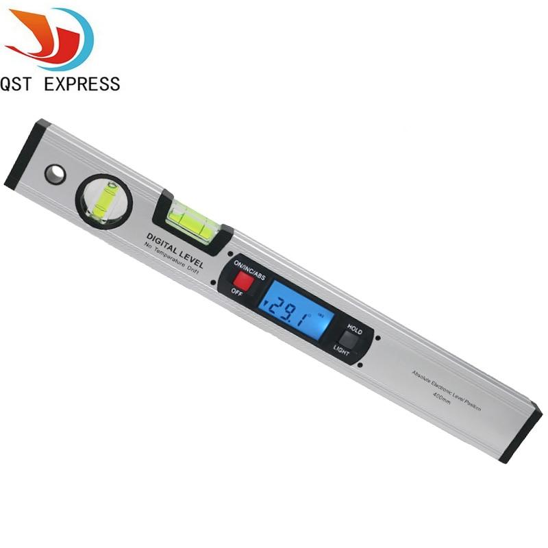 Détecteur D'angle numérique Niveau 360 Degrés Niveau à Bulle Verticale Inclinomètre Rapporteur Règle