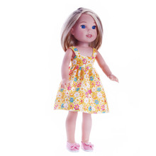 цена Handmade yellow Colors Princess Dress Doll Clothes for 14.5 inch Dolls American Girl Doll Clothes and Accessories онлайн в 2017 году