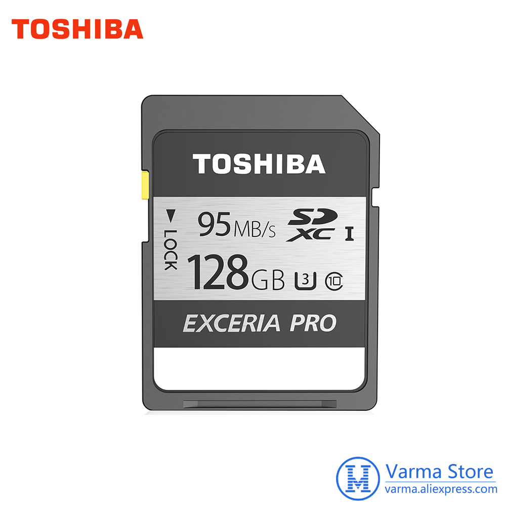 Toshiba Exceria pro SD Carte N401 SD carte mémoire UHS-I U3 128 GB Class10 4 K UltraHD flash carte mémoire SDXC