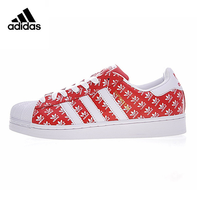 buy online f338c 46dce Adidas Originals Superstar Women s Walking Shoes , Red, Breathable  Wear-resistant Damping Non-slip Lightweight GP2308