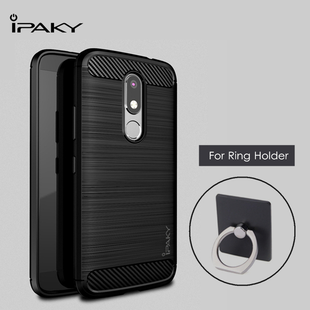 newest collection 5f377 c5afc US $4.99 |iPaky for Motorola MOTO M Case Cover Soft TPU Silicone Cover for  MOTO M Case Shockproof + Ring Holder Protective Shield Shell-in Fitted ...