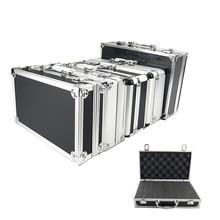 Ящик для инструментов портативный алюминиевый ящик для инструментов чехол для хранения ручной ударопрочный чехол для профиля с подкладкой из губки