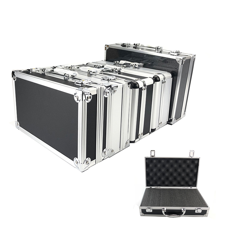 New Toolbox Portable Aluminum Tool Box Instrument Box Storage Case Handheld Impact Resistant Profile Case With Lining Sponge