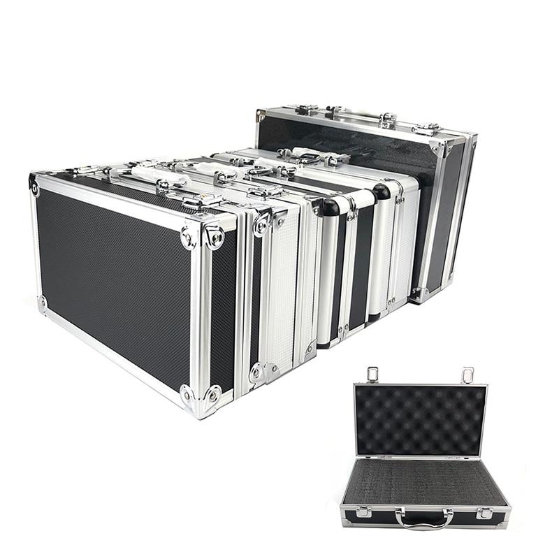 New Toolbox Portable Aluminum Tool Box Instrument Box Storage Case Handheld Impact Resistant Profile Case With Lining Sponge(China)