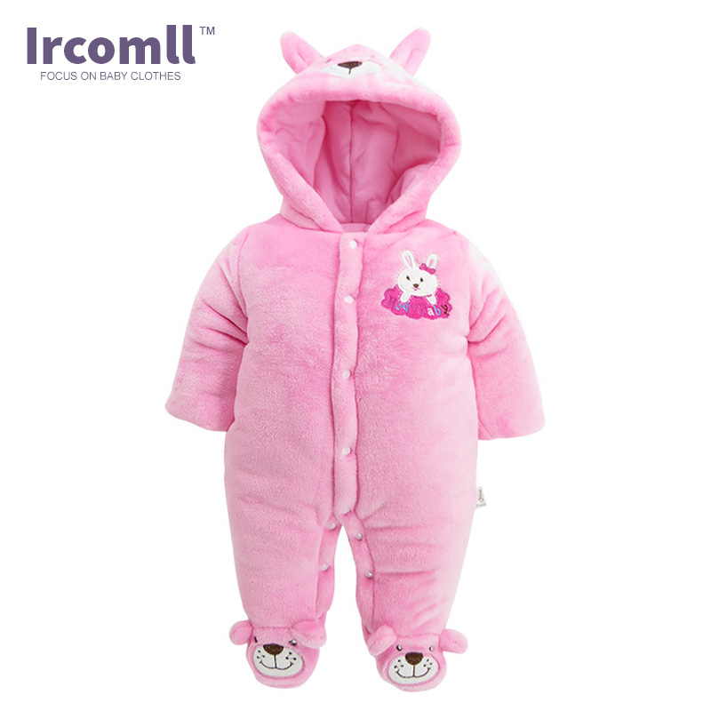 Ircomll Newborn Girl Romper Fleece Winter Baby Girl Clothing Warm Soft Infant Babies Clothes Kid Jumpsuit Children Outerwear 2015 autumn winter hot sale coral fleece baby boots baby shoes branded newborn infant shoes for babies soft shoes girl hk492