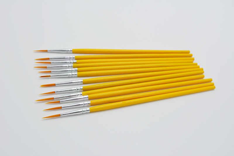 10 ピース/セットロングテール nylonhair フックラインのペン塗装ブラシ子供 DIY 画材ツールアート文房具水彩画ペン
