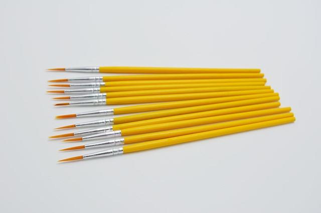 10pcs/set Long tail nylonhair hook line pen painting brush children DIY art supplies tool Art Stationery watercolor painting pen 2