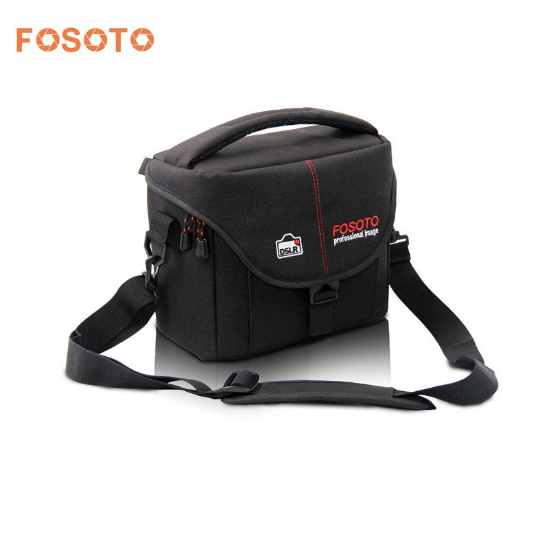 fosoto Camera Bag Nylon Case Photo Video Photography Should Bags for Canon Nikon D3300 Sony Pentax Samsung Panasonic DSLR Camera