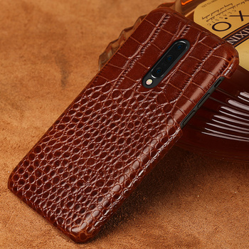 Genuine Leather Phone Case For Oneplus 8 Pro 7 7T Pro Nord 6T 6 5 5T 3 3T Shockproof Cover for One plus 7 Pro 8 crocodile Grain