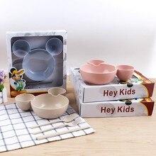 Newborn baby feeding bowl fruit plate children 's children' s fashion tableware sets children 's cutlery