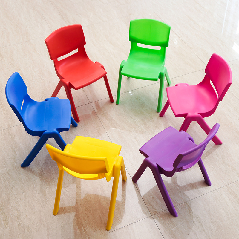Wholesale 26cm Seat Height Children's Kindergarten Chair Kid's Safety Back-rest Chair Thicken Small Stool