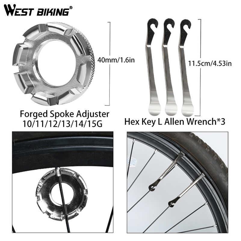 WEST Bike 8 en 1 Kit d'outils de réparation de vélo ensemble d'outils de réparation de vélo professionnel Kits de clés à rayons tournevis hexagonal outil de vélo