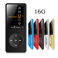 Ultradunne Originele IQQ X02 16 GB Mp3-speler Met 1.8 Inch Screen Spelen 80 uur & FM E-Book Klok Data Sport speaker mic MP3 Muziek