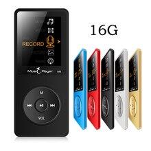 Caso ultrafino Original IQQ X02 16 GB MP3 Player Con Juego de la Pantalla de 1.8 Pulgadas 80 horas y FM E-Book Reloj de Datos Deporte altavoz mic MP3 Music