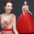 Duplo-ombro performances vestido formal multicor Quinceanera vestido inferior expansão sopro saia cinta cintura fina projeto longo