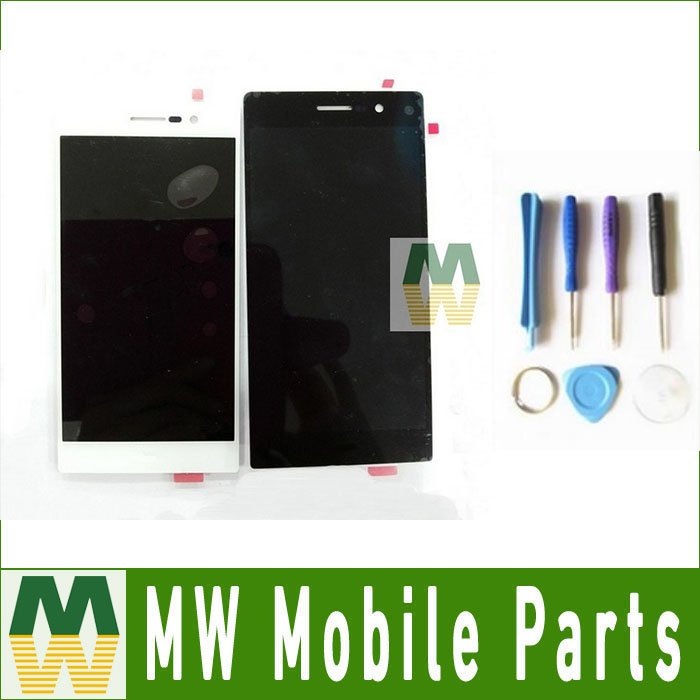 1PC /Lot LCD Display + Touch Screen Digitizer +Tools  For Huawei Ascend P7  Black White Color yueyao lcd display digitizer touch screen assembly for huawei ascend p7 p7 l10 p7 l00 p7 l05 lcd screen aseembly