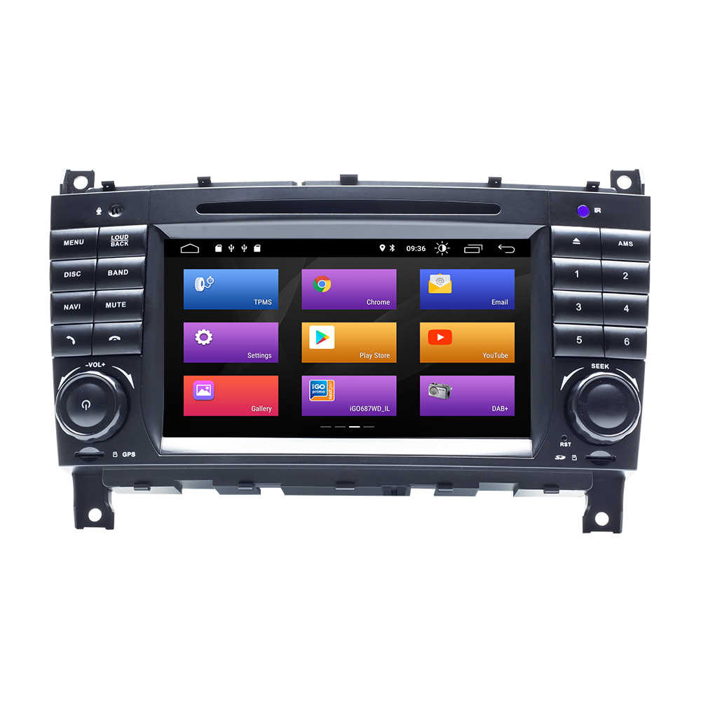 AutoRadio 2 Din Android 9,0 reproductor de DVD del coche para Mercedes BenzC-clase CLC C220 W203 CLK W209 2004- 2007 C200 C230 C320 C350 GPS 4G