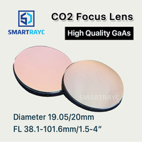 Smartrayc GaAs Focus Lens Dia. 19.05 / 20mm FL 50.8 63.5 101.6mm 1.5 4 High Quality for CO2 Laser Engraving Cutting Machine