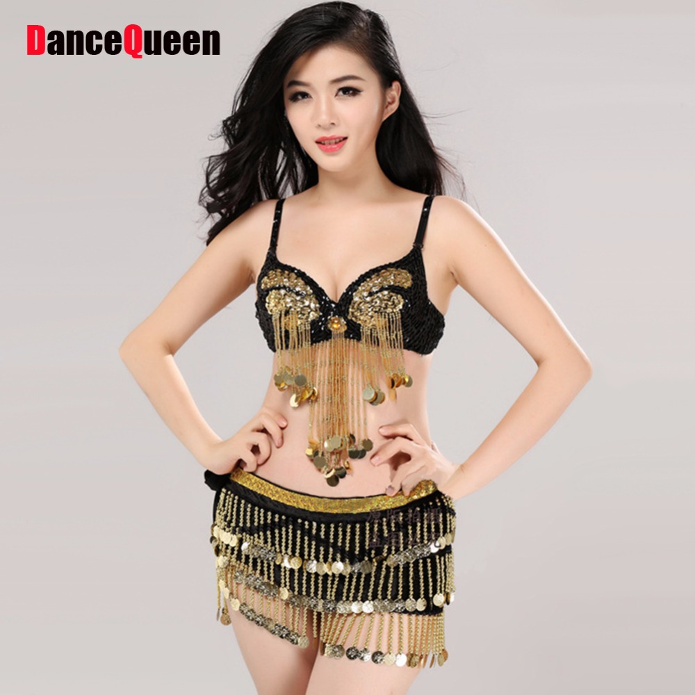 5fd1f0be5 Best Price 2018 Bollywood Dance 2pcs(Beaded Sequin Bra+Skirt) Belly Dancing  Clothes Costume-For-Belly-Dance Indian Clothes India Dancewear