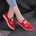 Free Shipping New Arrival Women Causal Shoes Bright Color Flats Non-slip Loafers Convenient Slip On Shoes HSE35
