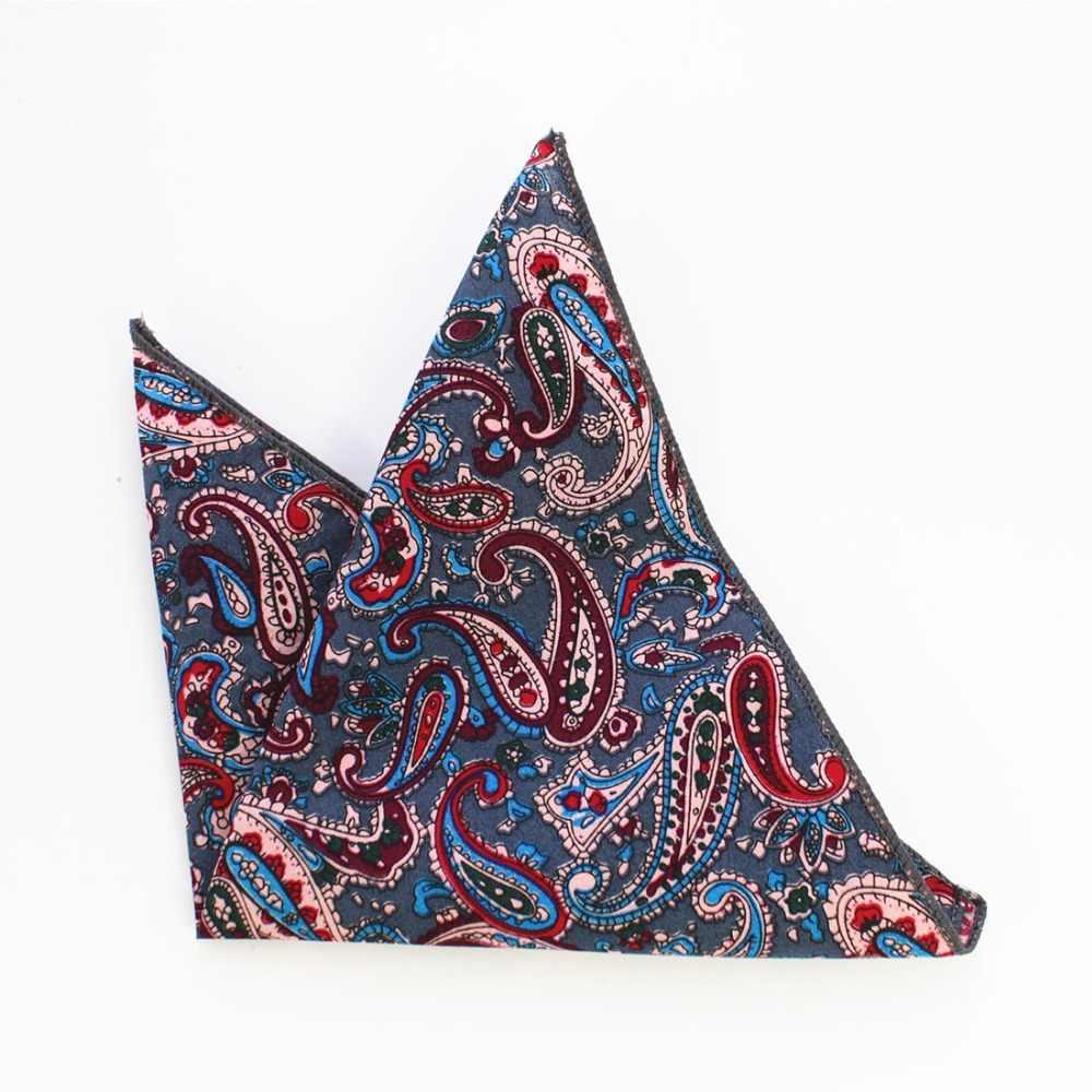 RBOCOTT хлопка Hankerchief Для Мужчин Печатных Цветочный платок винтажные носовые платки 22*22 см Высокое качество аксессуар для Свадебная вечеринка
