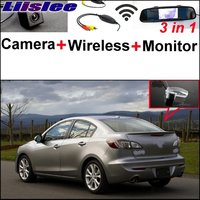 3 In1 Special Camera Wireless Receiver Mirror Monitor Easy DIY Backup Parking System For Mazda 3