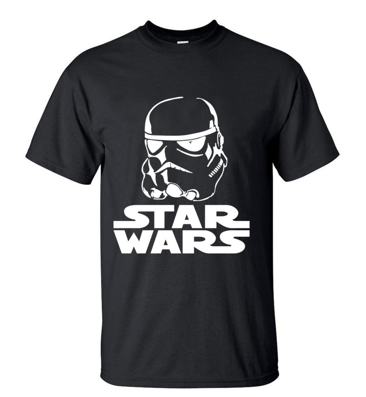 Hot Sale Cartoon Star Wars Men T Shirts 2019 New Summer Fashion Casual Slim Fit 100% Cotton T-Shirt Hip hop Tops Tee For Fans