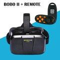 """Новая Виртуальная Реальность 3D VR Очки БОБО II Head Mount Gear Гарнитура для 4 """"~ 6"""" Телефон Черный с Bluetooth Remote"""