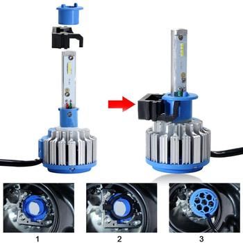 2pcs H1 LED Headlight Bulb Holders Adapters Socket for Ford Focus Fiesta Mondeo (High Beam) Car Lights image