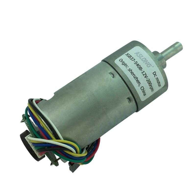 JGB37-540B DC Deceleration Motor Encoder Disc Gear Motor Speed Measuring Motor 6V-12V 7RPM-960RPM generic roland scan motor for sj 540 sj 740 fj 540 fj 740 sc 540 printer parts motor