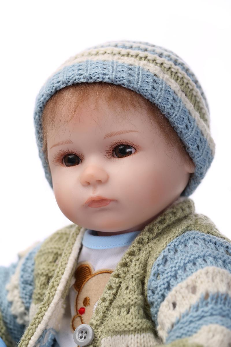 Doll Baby D110 42CM 17inch NPK Doll Bebe Reborn Dolls Girl Lifelike Silicone Reborn Doll Fashion Boy Newborn Reborn Babies npk cute 42cm 17   silicone reborn baby