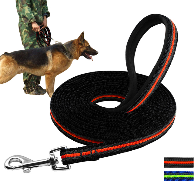 Durable 3m to 15m Dog Tracking Training Lead Leash Long Lead with Padded Handle Special Non-slip Design For any Size of Dogs
