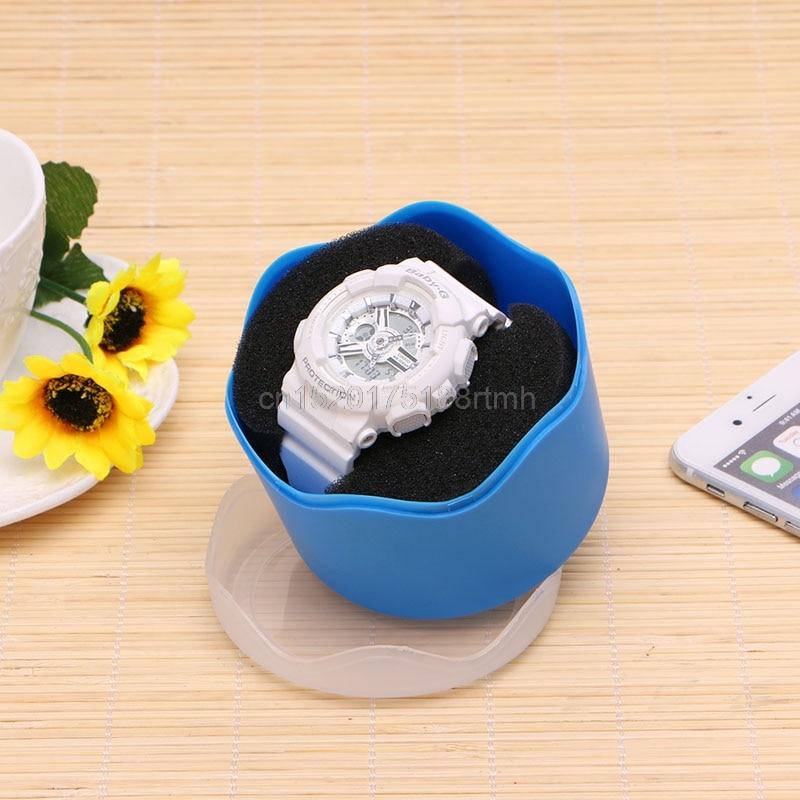 Ücretsiz teslimat Şeker Renk Kol Saklama Kutusu Plastik Sünger - Saat Aksesuarları - Fotoğraf 5