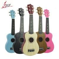 Exquisite 21 Ukulele Basswood Body Mini Guitrar Ukelele 4 Strings Musical Instrument Colorful Uke for Both Child & Adult