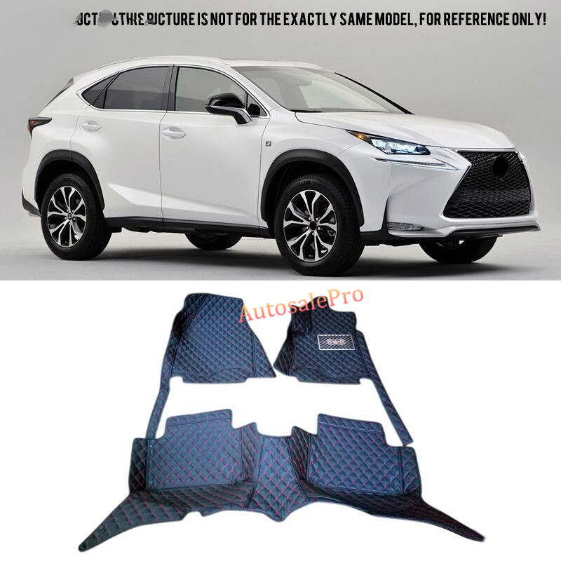 For Lexus NX200T AZ10 2015 2016 Left /Right Hand Drive black red Car Floor Mat carpet front rear Pad cover uk hong kong macao right steering wheel drive version car rugs mat for volkswagentouareg special latex rubber floor carpet