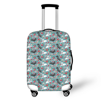 Scottish Terrier Flower Dog print Luggage Protection Cover Suitcase Case Accessories Bag Elasticity Travel Trolley