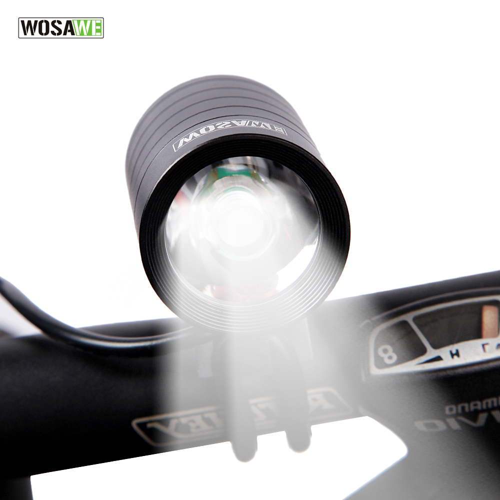 WOSAWE 1200 Lumen XMK T6 Bicycle Lights Lamp Waterproof LED Cycling Bike Bicycle Front Light flashlight With USB DV Cable in Bicycle Light from Sports Entertainment