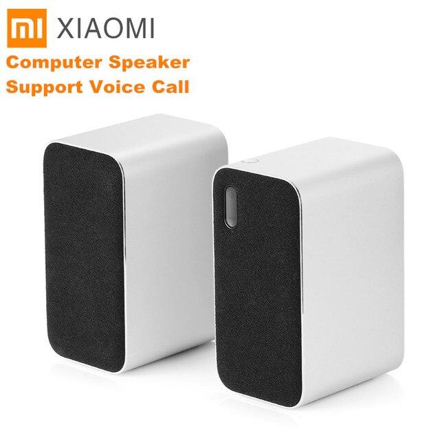 Orijinal Xiaomi Bluetooth bilgisayar hoparlör taşınabilir çift bas Stereo kablosuz hoparlör Bluetooth4.2 desteği sesli arama