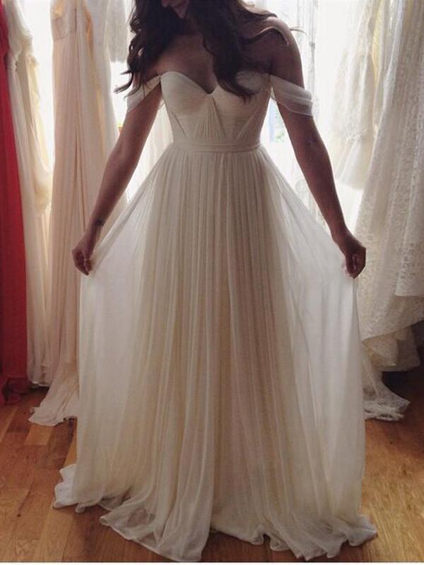 A-line Sweetheart Chiffon Elegant Bridesmaid Dress