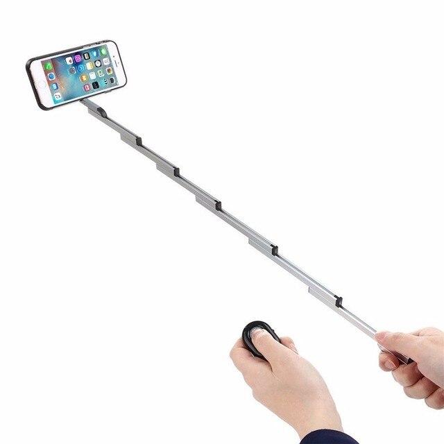 3で1 selfieスティックw/アルミカバーのためのiphone 7 6 sプラス折りたたみselfieでケース& bluetoothリモートシャッター用iphone 6s