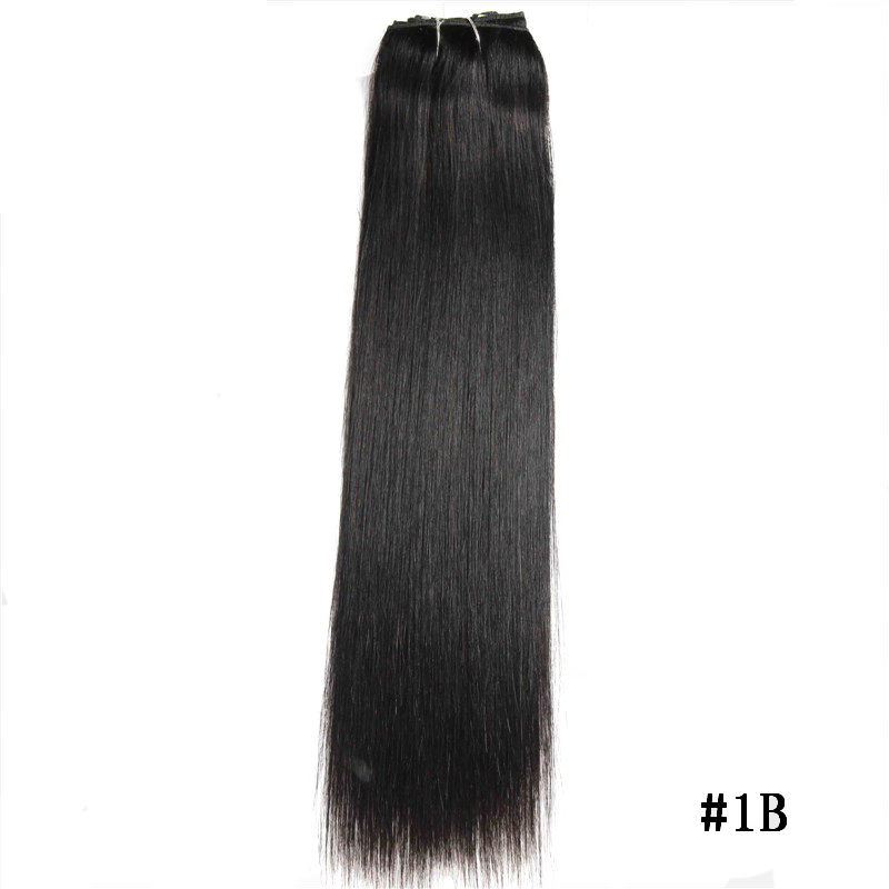 Straight Non-remy Hair Brasiilia juuksed Natural Black 18