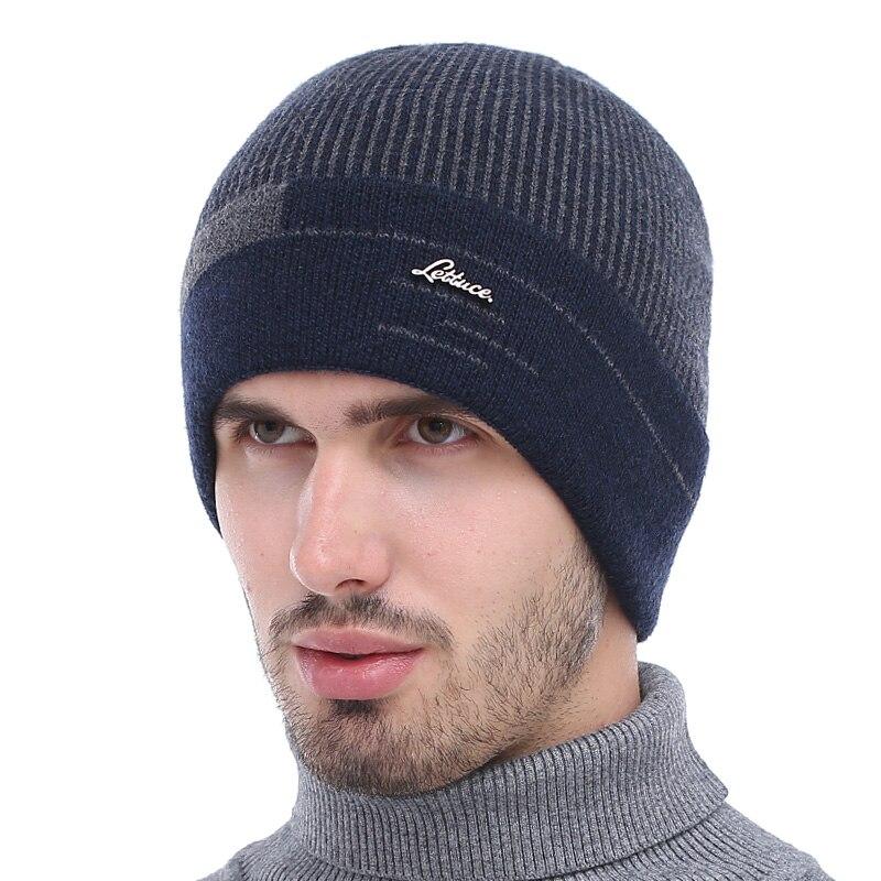 Beanies for Men Wool Hat Knitted Winter Hat Men Skullies Male Cap Winter Keep Warm