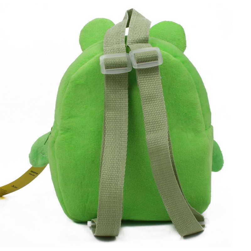 Поп-новый лягушка мультфильм Дети Плюшевые игрушки рюкзак мини школьная сумка Детские подарки детский сад унисекс дети ребенок студент Сумки