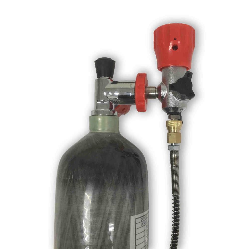 AC102101 معدات غطس صغيرة 2.17L hpa الصيد الغوص كرات الطلاء خزان الألياف زجاجة pcp 500 cc مسدس هواء لاطلاق النار تحت الماء