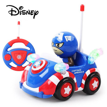 Disney Remote Control Toys Captain America RC Car Spider-man Electric Toys Automatic Play Car Toy Cartoon RC Child Birthday Gift