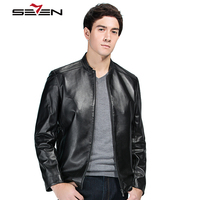 Seven7 New Arrival Brand Real Genuine Leather Jacket Men Motorcycle Spring Autumn Winter High Quality Slim